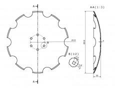 talerz 510 mm soczewkowy