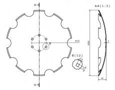 talerz 560  mm soczewkowy