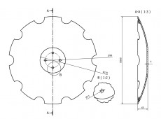 talerz 560  mm wypłaszczony SKF