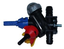 Potrójna oprawa rozpylacza przeciwwietrzny 03- przelotowy